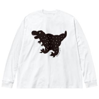 ブラックティラノ Big silhouette long sleeve T-shirts