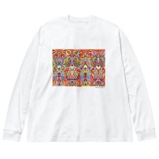 Quadruple Big silhouette long sleeve T-shirts