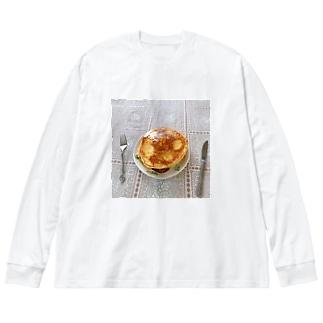 実家のホットケーキ Big silhouette long sleeve T-shirts
