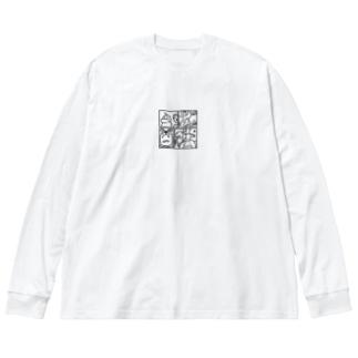とくべつでかわいいかわいいまんがっ! Big silhouette long sleeve T-shirts