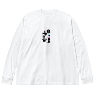 コロナのせい Big silhouette long sleeve T-shirts
