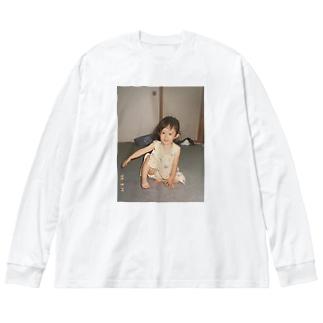 2サイ Big silhouette long sleeve T-shirts