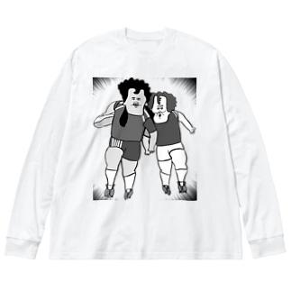 闘球 Big silhouette long sleeve T-shirts