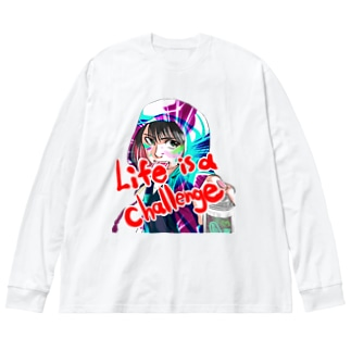 Life is a challenge Big silhouette long sleeve T-shirts