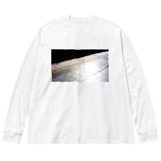イエローライン? Big silhouette long sleeve T-shirts