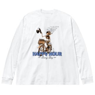 """HAPPY HOUR""(clr) #1 Big Long Sleeve T-shirt"