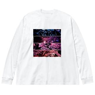 夜桜カルテット Big silhouette long sleeve T-shirts