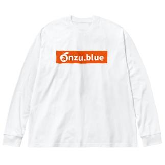 anzu ロゴ(URL) tyle2 Big silhouette long sleeve T-shirts