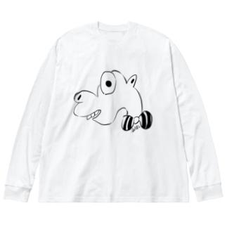 アッキーちゃん Big silhouette long sleeve T-shirts