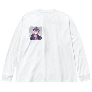 オリジナルキャラ Big silhouette long sleeve T-shirts
