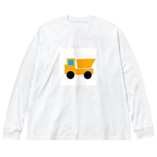 ダンプカー Big silhouette long sleeve T-shirts