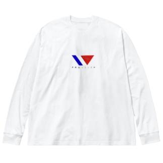 早稲田フランス村ロングTシャツ Big silhouette long sleeve T-shirts