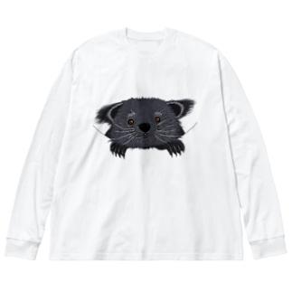 ビントロングぅー Big silhouette long sleeve T-shirts
