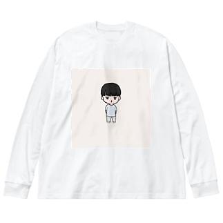 こうやん Big silhouette long sleeve T-shirts