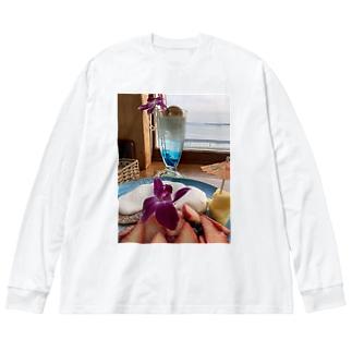 パンケーキとクリームソーダ Big Silhouette Long Sleeve T-Shirt