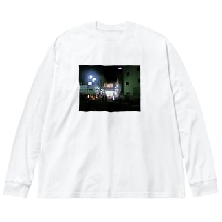 おれたちの光 スーパー玉出 Big silhouette long sleeve T-shirts