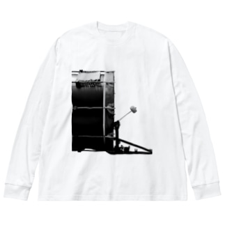「DRUMS!!」#9 Big silhouette long sleeve T-shirts
