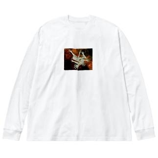 宇宙とタトゥー Big silhouette long sleeve T-shirts