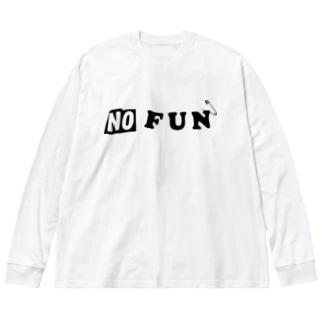 NO FUN Big silhouette long sleeve T-shirts