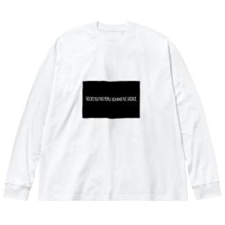 [TA-wake]Sunday Night Big silhouette long sleeve T-shirts