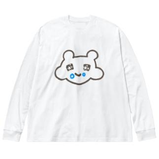 モグモグ✨パンくずマウス Big silhouette long sleeve T-shirts