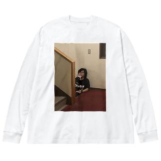 何も考えてない一条 Big silhouette long sleeve T-shirts