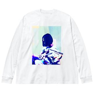 ギターガール012 Big Silhouette Long Sleeve T-Shirt