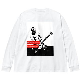 谷嵜なおきプロレスTシャツ等々 Big Silhouette Long Sleeve T-Shirt