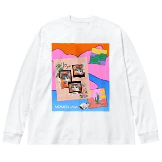 MOMOのレトロなデザイン #01 Big silhouette long sleeve T-shirts