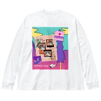 MOMOのレトロなデザイン #02 Big silhouette long sleeve T-shirts