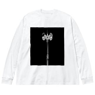 スピーカー Big silhouette long sleeve T-shirts