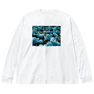 アジサイ Big silhouette long sleeve T-shirts