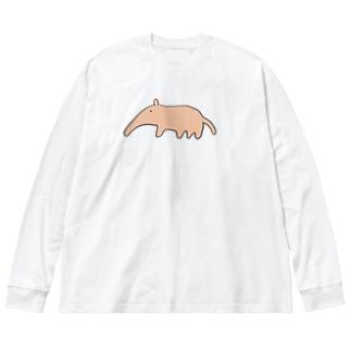 アリクイくん Big silhouette long sleeve T-shirts