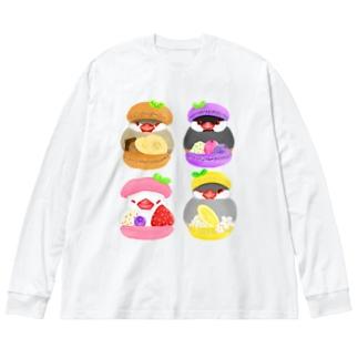 ぎゅっ♪マカロン文鳥ず Big Long Sleeve T-shirt