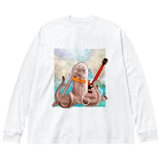 ロックタコ少女(B01)002 Big Silhouette Long Sleeve T-Shirt