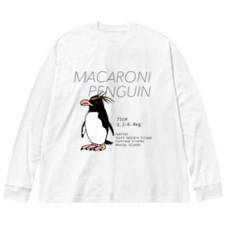 マカロニペンギン Big silhouette long sleeve T-shirts