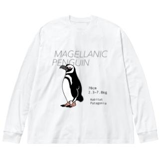 マゼランペンギン Big silhouette long sleeve T-shirts