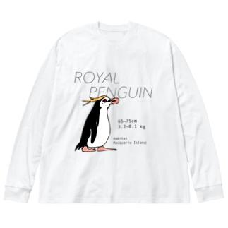 ロイヤルペンギン Big silhouette long sleeve T-shirts