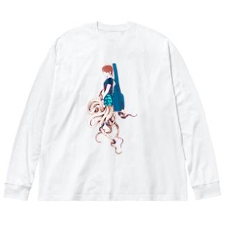 ロックタコ少女003 Big Silhouette Long Sleeve T-Shirt