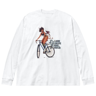 """""""FLAME TONGUE STEEL WORKS"""" Big Silhouette Long Sleeve T-Shirt"""