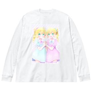 双子ちゃん Big silhouette long sleeve T-shirts