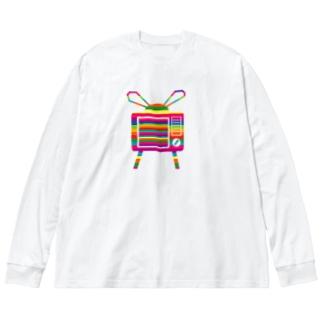 カラフルテレビ Big silhouette long sleeve T-shirts
