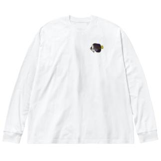 snaggedgorillaのチリメンヤッコ Big silhouette long sleeve T-shirts