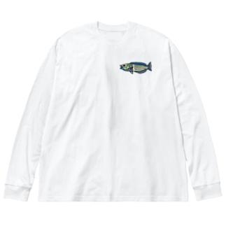 シロタスキベラ Big silhouette long sleeve T-shirts