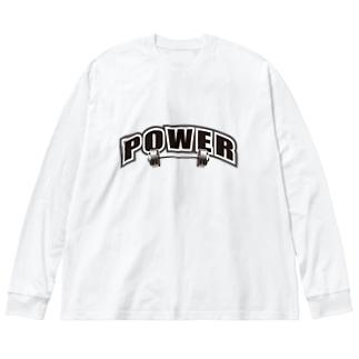PROTEIN プロテイン ブラック Big silhouette long sleeve T-shirts