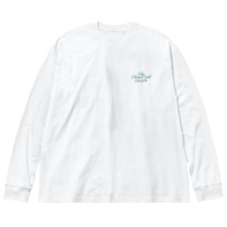 No Choco Mint No Life ワンポイント Big silhouette long sleeve T-shirts