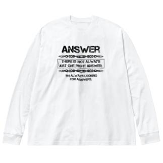 Answer Big silhouette long sleeve T-shirts