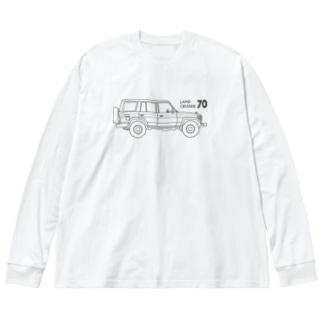 ランドクルーザー70のイラスト Big Silhouette Long Sleeve T-Shirt