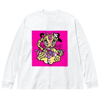 ギブミ〜!トモタカ Big silhouette long sleeve T-shirts