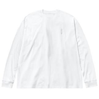 ドットお花 Big silhouette long sleeve T-shirts